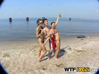 Two amateur bitches having fun with a lucky guy..