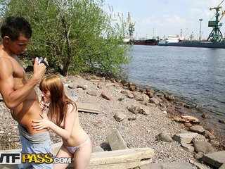 The naughty girl porn on the river banks