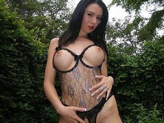 Big-titted amateur minx exposing her delicious..