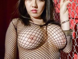Azusa Nagasawa with big cans in fishnets sucks..