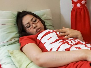Chie Inamori Asian plays with vibrators on hairy..
