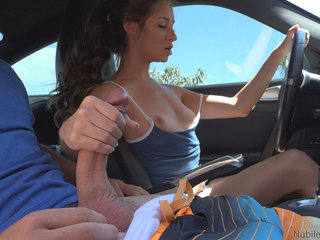 Tiny spinner Cassidy Klein uses her warm eager..